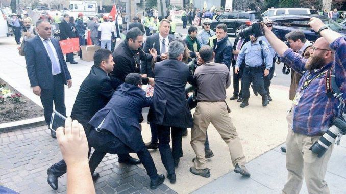 Turkish Security Kick Out Media, Confront DC Police At Erdogan Event