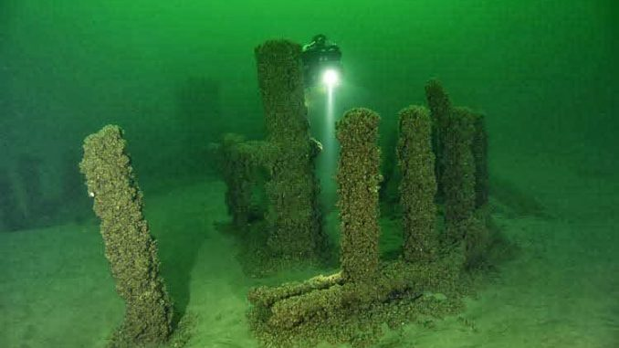 A Stonehenge structure has been discovered under Lake Michigan