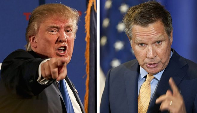 Trump and Vice Presidential nominee John Kasich