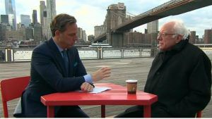 Bernie with CNN's Jake Tapper