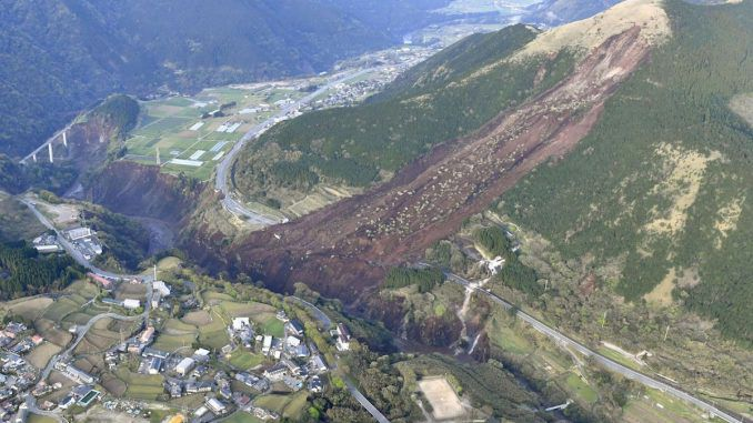 Dozens of huge earthquakes strike Japan, leading to fears that southern island may split