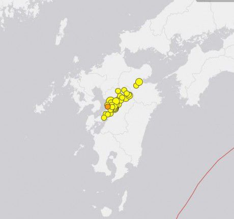 USGS Japan earthquake map