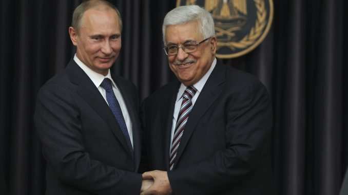 Putin supports Palestinian's efforts for Middle East settlement