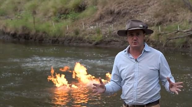 Video: River Erupts Into Flames Near Fracking Site In Australia