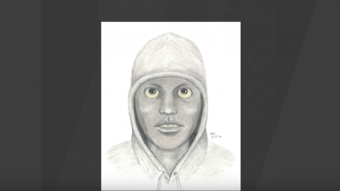 Assault suspects eerie eyes as seen in a police sketch