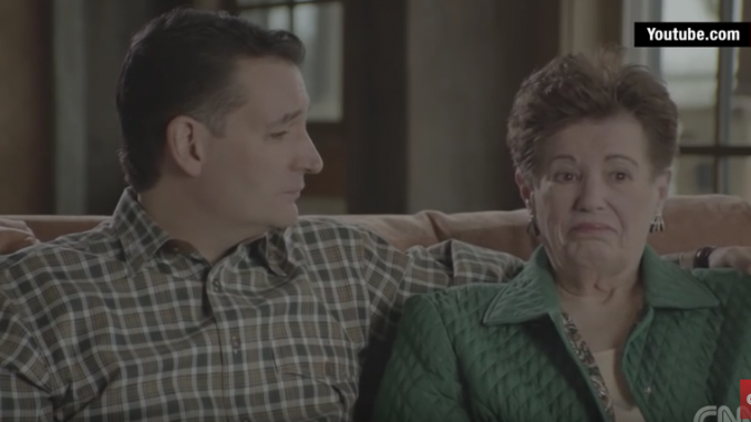 Ted Cruz coach his family through a campaign ad shoot