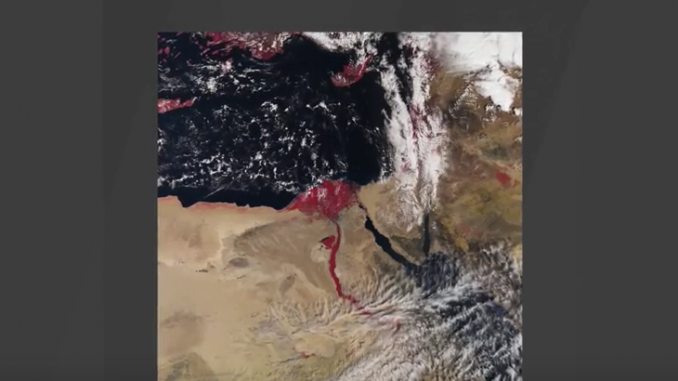 Satellite Photo Shows Nile River Blood Red