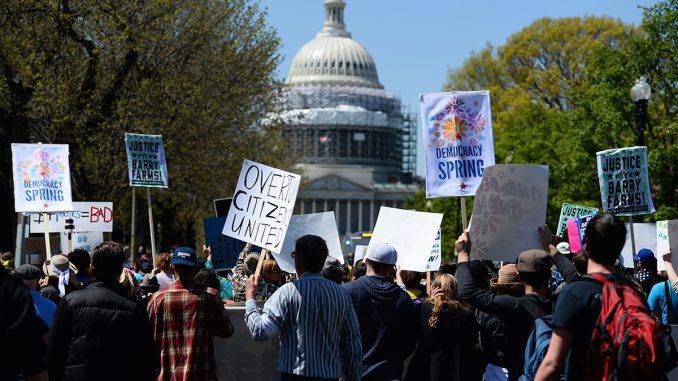 Thousands of protestors take storm Washington D.C. amid a complete media blackout of the protests
