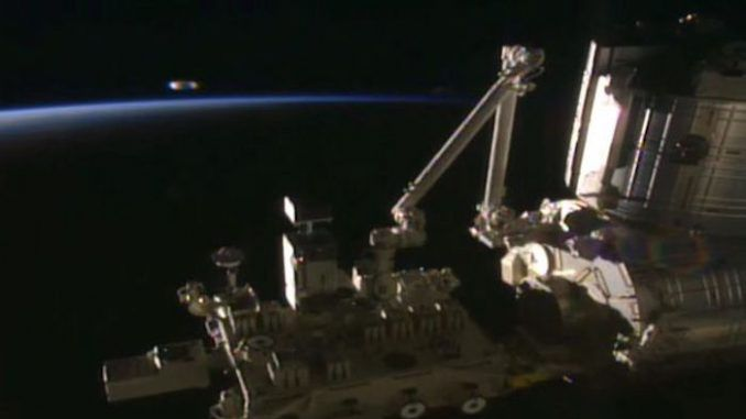 Enormous UFO mothership spotted on NASA ISS video feed