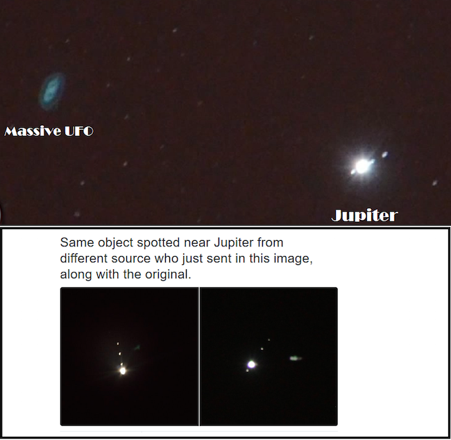 UFO near Jupiter - Massive