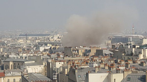 Huge Explosion In Central Paris