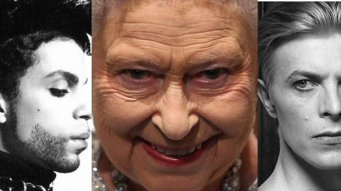 The Queen 'completely killed the vibe' at her own birthday party yesterday when she was overheard telling guests that 'four more icons must die' in 2016 in order for the Illuminati to shepherd humanity towards the next phase of their sick and twisted masterplan.