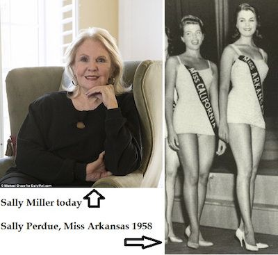 Sally miller today (left) and as Miss Arkansas (right)