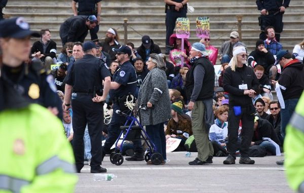 Hundreds Arrested At 'Democracy Spring' Sit-In At The US Capitol
