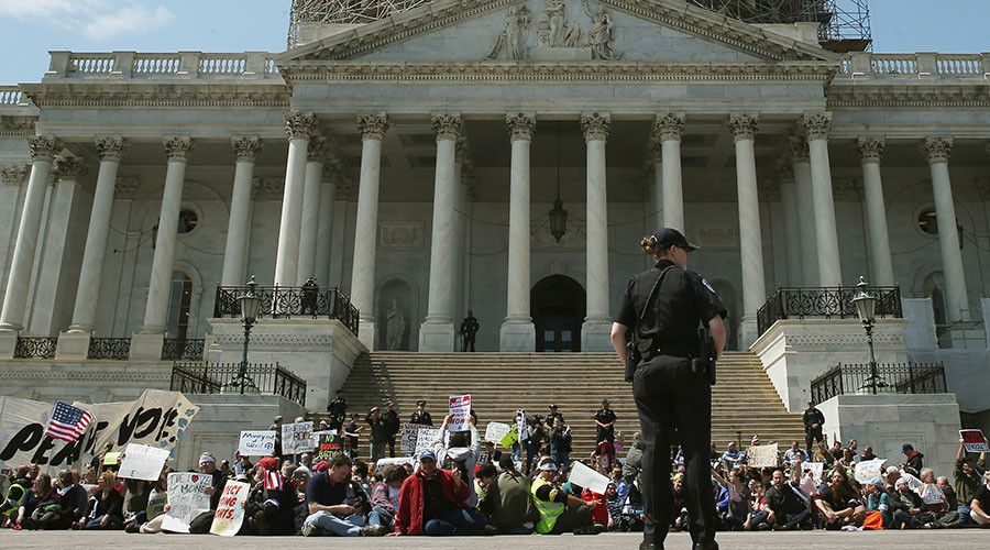 sit in at US capitol
