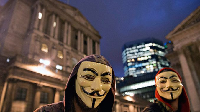 Anonymous hackers declares war on Bank of England