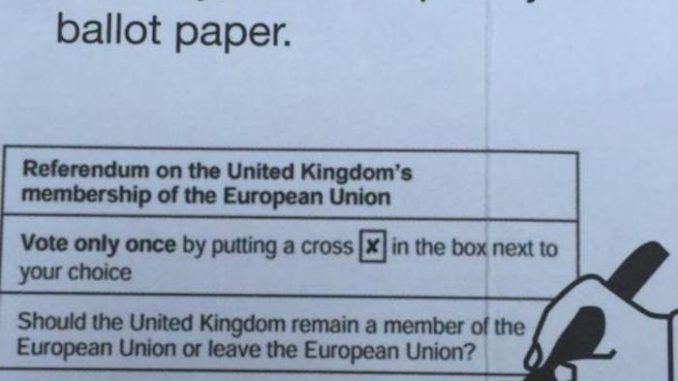 Public outrage at Brexit ballot fraud discovered