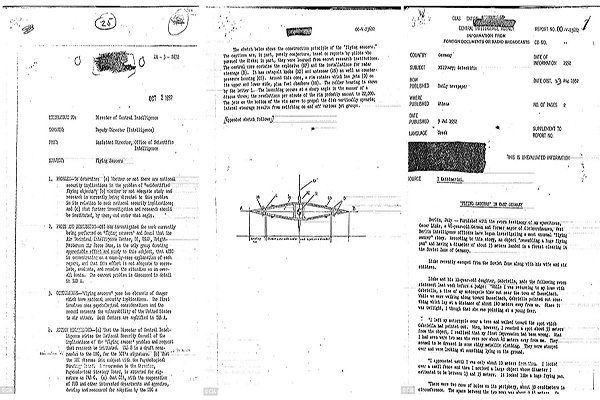 Page taken from CIA report proving that extraterrestrials roam the Earth