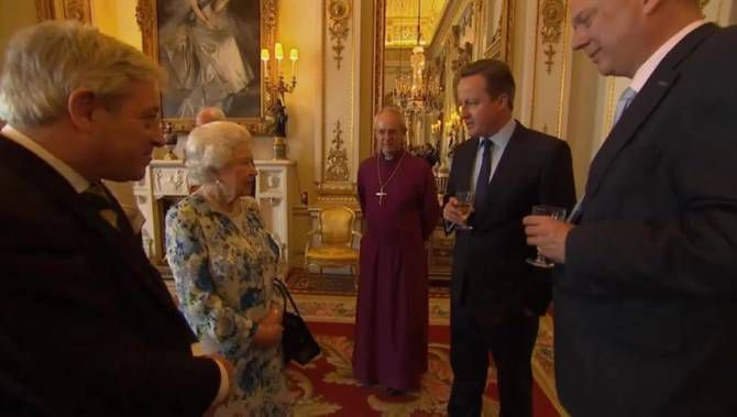 Cameron and the queen