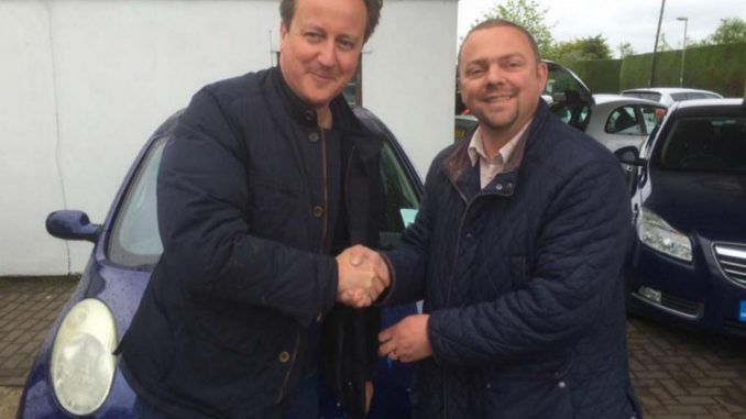 Prime Minister David Cameron purchases second-hand used car