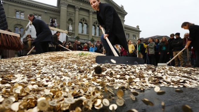 Switzerland guarantee citizens a $2,600 monthly income