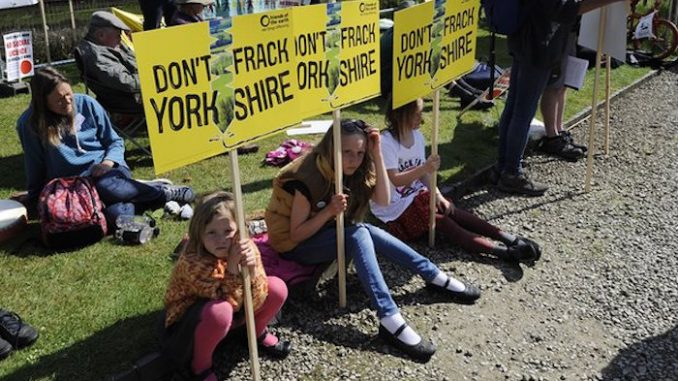 UK government green light North Yorkshire fracking project