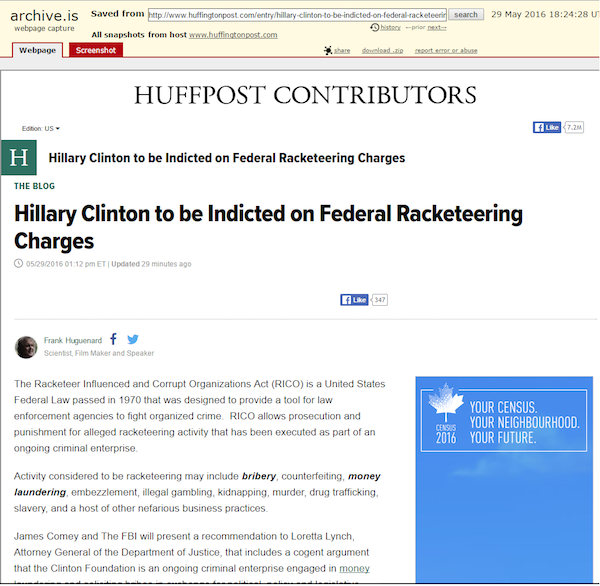 Clinton Foundation hit with racketeering lawsuit