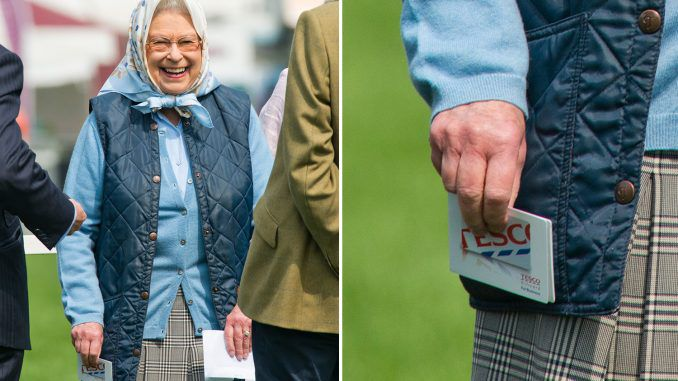 The Queen Delighted To Win a £50 Tesco Voucher