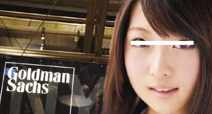 Goldman Sachs fired a member of staff after learning that she worked as a porn star in adult videos while a college student.