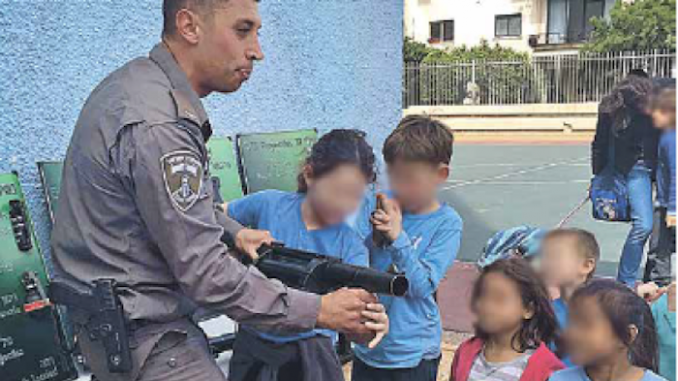 Israel police teach young school kids how to kill