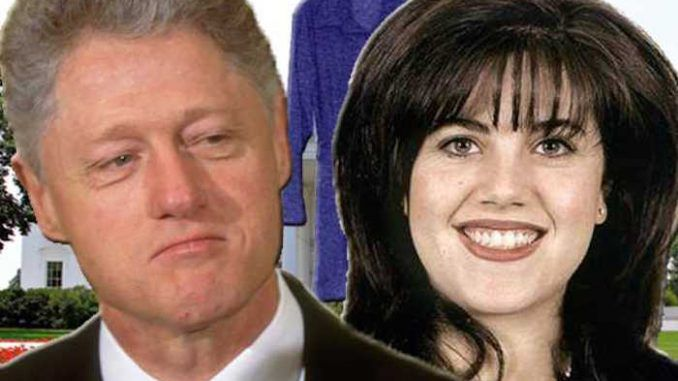 Monica Lewinsky had to wait in line before having sex with Bill Clinton