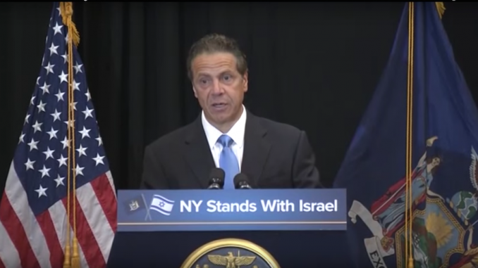 New York Governor signs executive order outlawing any criticism of Israel