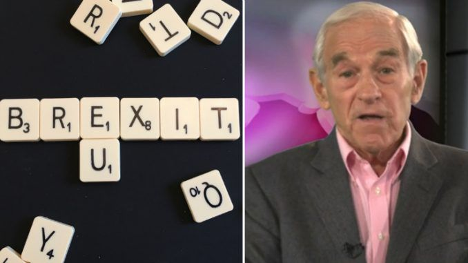 Ron Paul: Brexit represents a crushing glow for the global banking elite