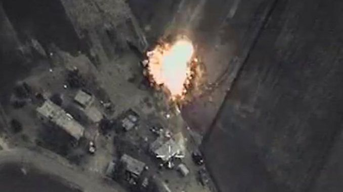 Russia destroy ISIS in northern Syria