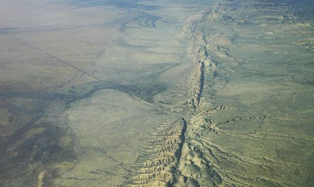 Sections Of California Rising & Sinking Around The San Andreas Fault