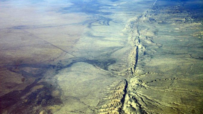 Huge unprecedented movement has been recorded along the San Andreas fault line