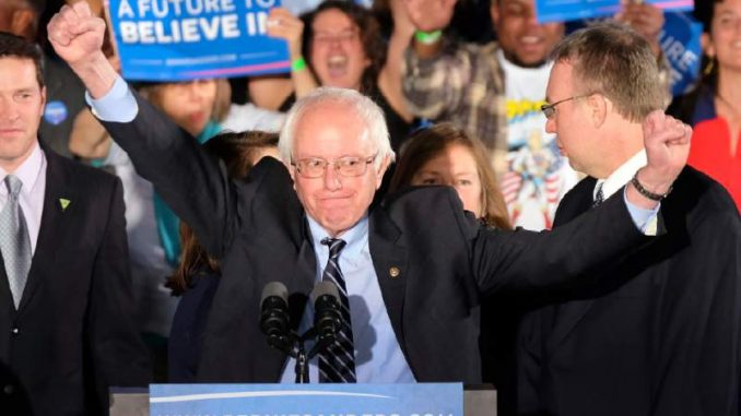 Bernie Sanders vows not to give up his bid for Democratic nominee