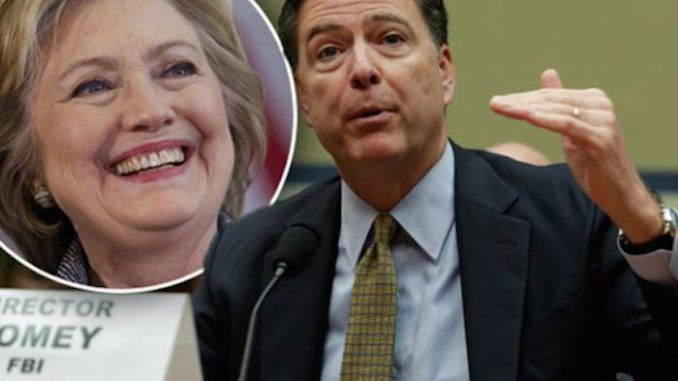 Congress call for prosecution of FBI director James Comey over his ties to Clinton Foundation