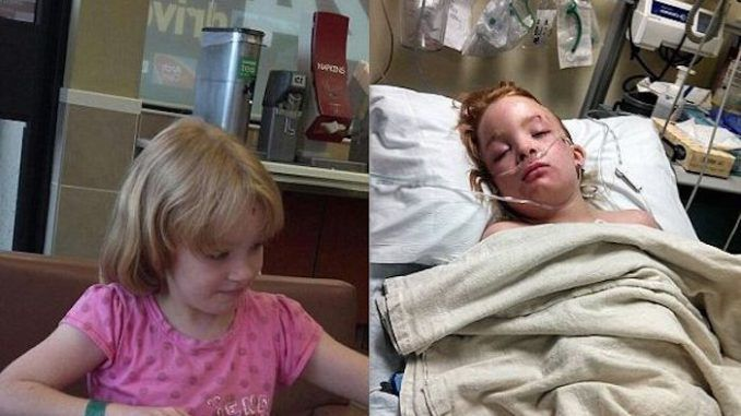 Young girl left paralysed after routined flu shot