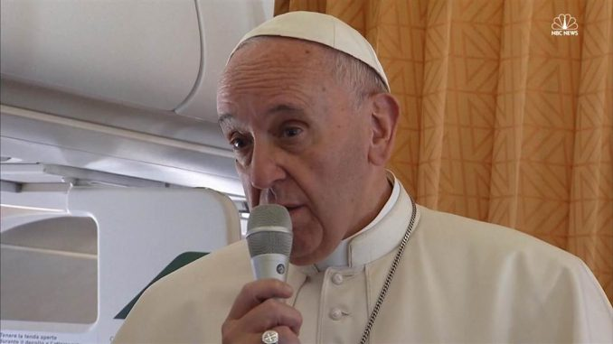 """""""Pope Francis has announced that World War 3 has begun, saying it is not a religious war but a New World Order generated conflict over """"interests, money and resources."""""""