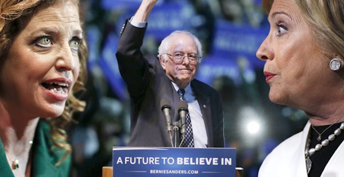 A Wikileaks email dump proves there was a Democratic Party plot to commit election fraud against Bernie Sanders and hand the nomination to Hillary Clinton.