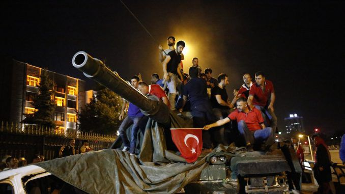 Turkey blames US for coup as war looms