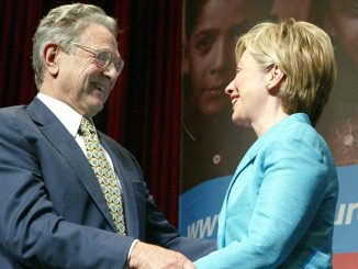 """Hillary Clinton promised to """"get money out of politics"""" on the same day she accepted a $25 million dollar donation from George Soros."""