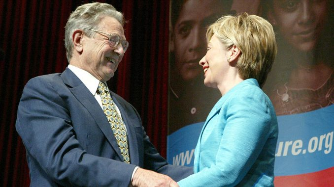 "Hillary Clinton promised to ""get money out of politics"" on the same day she accepted a $25 million dollar donation from George Soros."