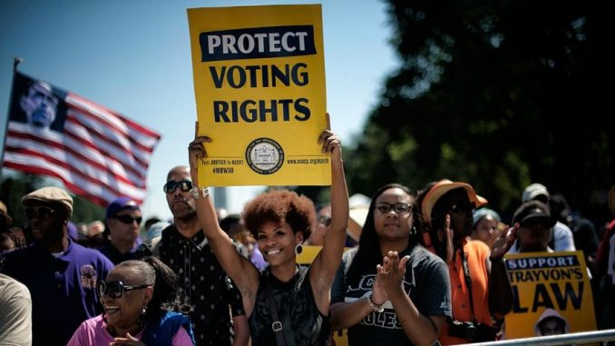 Congress and activists vow to fight voter suppression