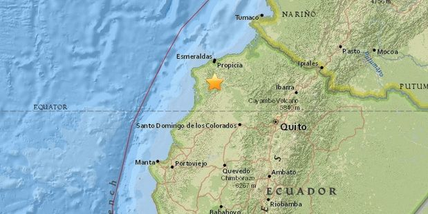 Two Powerful Earthquakes Strike Coast Of Ecuador