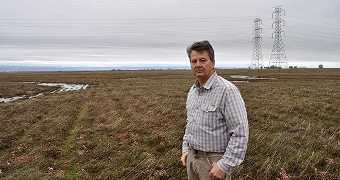 US government accuse farmer of breaking the law for ploughing his land