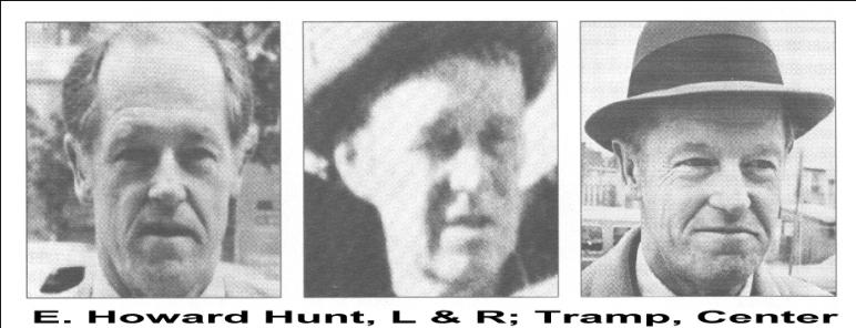 Was E Howard Hunt one of the tramps?