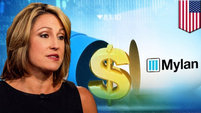 Mylan Pharmaceuticals — the company that cornered the market for the lifesaving EpiPen and then jacked the prices up by 471% — is experiencing serious karmic retribution in the stock market.