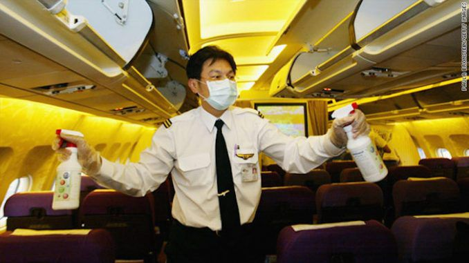 Flight attendant blows the whistle on routine spraying of pesticides on passengers